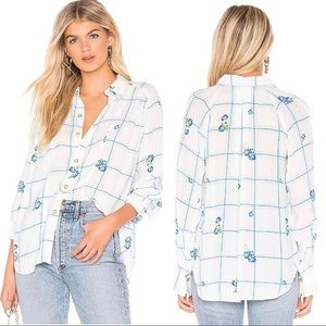 Free People Window to my Heart Button Blouse NWT